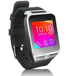 InDigi 2- In -1 GSM Bluetooth Sync Smart Watch Phone W Built- In Camera Pedometer Sleep Monitor Radio