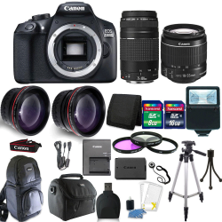 Canon Eos 1300D T6 18MP Dslr Camera EF-S18-55MM + 75-300MM 4 Lens Accessory  Kit | R | Electronics | PriceCheck SA