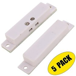 UHPPOTE Nc Wired Magnetic Alarm Window Door Contact Sensor Detector Reed Switch White 5 Pack