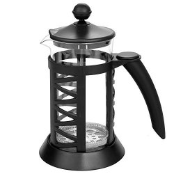 Meflying French Press Coffee Pot Complete Bundle 1000ML Heat Resistant Glass Coffee Pot With Stainless Steel Plunger Lid Stainless Steel Screen 2PCS Ex 34-OUNCE