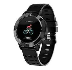 Smart Watch IP67 Waterproof Tempered Glass Activity Fitness Tracker Heart Rate Monitor Sports Men Women Smartwatch Random Give Gift 1