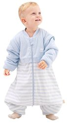 OuYun Baby Early Walker Sleeping Bag With Feet Detachable Sleeve Wearable Blanket Spring&autumn Blue Medium