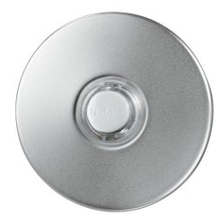 Broan-NuTone PB18LWHCL Doorbell Kit Lighted Round Stucco Pushbutton For Home 2.5 Diameter Satin Nickel