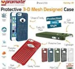 Promate SPIDY.I5 Designed Promate Protective Case For Iphone 5 5S White Retail Box 1 Year Warranty 3-D Mesh Designed Protective