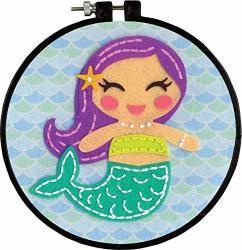 Dimensions Learn-a-craft Felt Applique Kid's Craft Mermaid