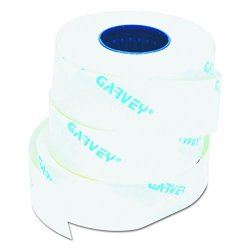 Garvey Products, Inc. Garvey One-line Pricemarker Labels 7 16 X 13 16 Inches White 1200 ROLL 3 Rolls box 090944