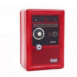 Fine Living Retro Radio Safe - Red