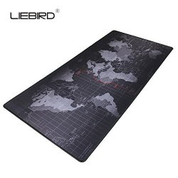 """LIEBIRD Rubber Products Factory Liebird Extended XXL Gaming Mouse Pad - Portable Large Desk Pad For Laptop - Non-slip Rubber Base Xxl- 35.4""""X15.7""""X2.5MM"""