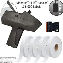 USA Monarch 1115 Price Gun With Labels Starter Kit: Includes Price Gun 6 000 White Pricing Labels Inker And Label Scraper