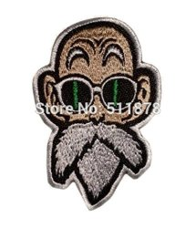 J&C Family Owned Application Dragonball Master Roshi Theme Cosplay Applique Patch Great Gift For Parties Decoration. Or Collecting
