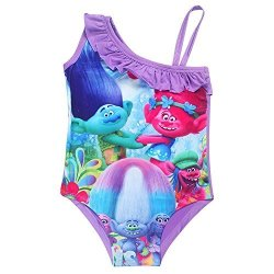 90cc7c1efaa PCloud Trolls Toddler little Kid Girls Swimwear Swimsuit Bathing Suits
