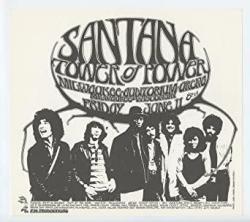 Santana Tower Of Power Handbill 1971 Jun 11 Milwaukee Auditorium Arena Randy Tuten