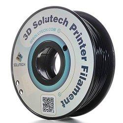 3D Solutech Real Black 1.75MM Abs 3D Printer Filament 2.2 Lbs 1.0KG - 100% Usa