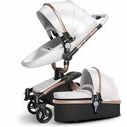 SpringBuds Baby Stroller Bassinet Carriage Combo 360 Rotation 3 IN 1 Shock resistant High Landscape Luxury Pram Stroller For Newborn And Toddler