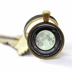 Cutetrex Jewelry Camera Lens Key Ring Moon Camera Keychain