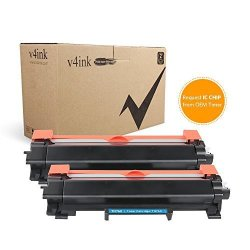 V4INK No Ic Chip New Compatible Brother TN730 TN760 High Yield Black Toner Cartridge For Brother HL-L2350DW HL-L2370DW DCP-L2550DW MFC-L2710DW MFC-L2730DW MFC-L2750DW Printer 2BLACK