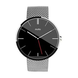 Probrother Stainless Steel Metal Mesh Band Black Watchband For Motorola Moto 360 Smartwatch