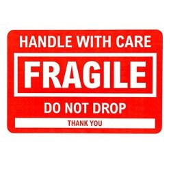 "Sblabels 2"" X 3"" Fragile Stickers Handle With Care Shipping packing Label"