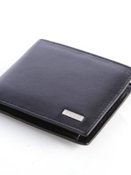 Polo Nappa Billfold With Coin Section Black