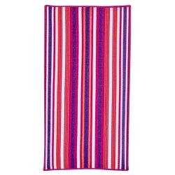 Mainstays Berry Textured Stripe Beach Towel
