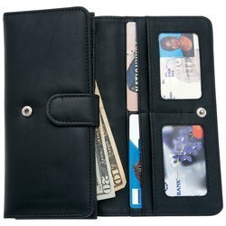 Embassy New Ladies Solid Genuine Leather Wallet Multiple Slots Snap Closure Interior Compartment