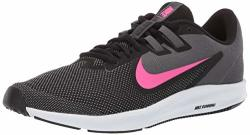 Nike Women's Downshifter 9 Sneaker Black laser Fuchsia-dark Grey 10 Regular Us