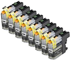 Blake Printing Supply 8 Pack Compatible With Brother LC101 LC103 LC105 8 Black For Use With Brother DCP-J152W MFC-J245 MFC-J285DW MFC-J4310DW MFC-J4410DW MFC-J450DW MFC-J4510DW MFC-J4610DW MFC-J470DW MFC-J4710DW