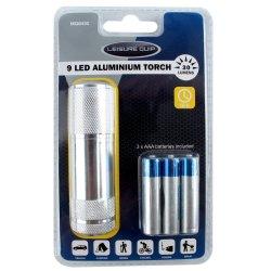 Leisure Quip - 9 LED Torch Aluminium