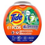 Tide Pods 4 In 1 He Turbo Laundry Detergent Pacs Botanical Rain Scent 61 Count Tub