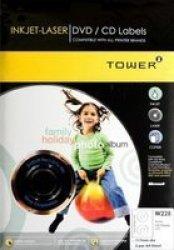 W228 Inkjet-laser Dvd cd Full Face Labels 100 SHEETS117MM