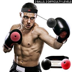 MY SPORTS Boxing Reflex Ball Boxer Ball To Improve Speed With Reaction Training - Boxing Gym Equipment For Training & Fitness -