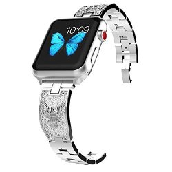 Lwsengme Watch Band Compatible With Apple Watch Band 42MM 38MM Stainless Steel Great Gift Bracelet Replacement Band Compatible W