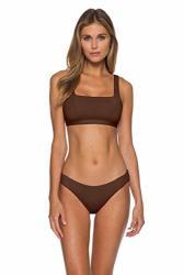 Becca By Rebecca Virtue Women's Color Code Classic Bikini Top Bronze L