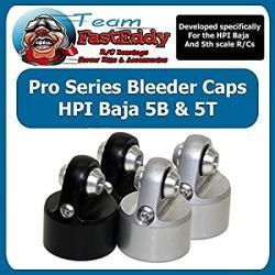 USA Fasteddy Bearings 2 Shock Bleeder Caps Hpi Baja Silver Only