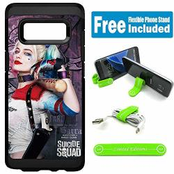 Limited Editions For Samsung Galaxy S8 Defender Rugged Hard Cover Case - Harley Quinn Real Purple