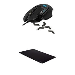 041d399bbb7 Logitech G502 Proteus Spectrum Rgb Tunable Gaming Mouse And Amazonbasics  Extended Gaming Mouse Pad