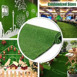 Petgrow Artificial Grass Turf Lawn 4FTX12FT Economy Indoor Outdoor Synthetic Grass Mat Backyard Patio Garden Balcony Rug Rubber