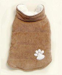 Ltd Commodities Llc Brown Corduroy Pet Jackets - Medium