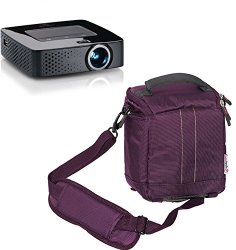 Navitech Purple Protective Portable Handheld Pocket Projector Carrying Case And Travel Bag For The Ezapor MINI