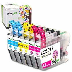 Kingjet 3013 Color Ink Replacements For Brother LC3013 Ink Cartridges Compatible With MFC-J491DW MFC-J497DW MFC-J690DW MFC-J895DW Inkjet Printers 6 Pack 2CYAN 2MAGENTA 2YELLOW