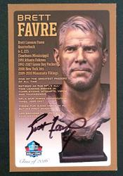 Pro Football Hall Of Fame Brett Favre Nfl Bronze Bust Set Card Autographed Limited Edition 1 Of 150