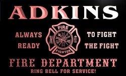 ADV PRO QY1394-R Adkins Fire Fighter Department Firemen Bar Neon Light Sign