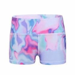 Iiniim Girls Stretchy Dance Shorts Gymnastics Dancewear Youth Athletic Sports Training Bike Shorts Colorful 5-6