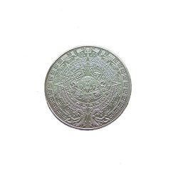 CYNDIE Metal Maya Aztec Calendar Commemorative Coin Silver gold Plated Gift Collection