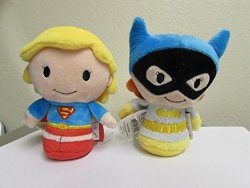 """Limited Editions """"batgirl & Supergirl"""" Itty Bitty's From Hallmark"""