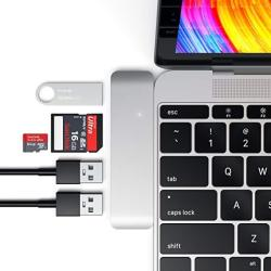 Satechi Aluminum Type-c USB 3.0 3-IN-1 Combo Hub Adapter - 3 USB 3.0 Ports And Micro sd Card Reader - Compatible With 2018 Macbook Air 2018 Ipad Air