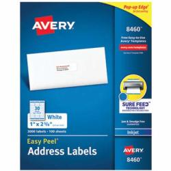 AVE8460 - Easy Peel Mailing Address Labels