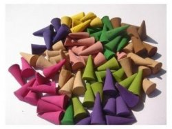Backflow Cones for Backflow Incense Burner Holder by Feelin Homey Eralove Backflow Incense Cones 50 Pcs 10 Mixed Natural Scents Rose Lily osmanthus Rosemary Lavender and More