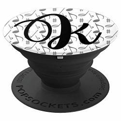 Music Letter K Monogram Name Initial Gift For Musician Zx