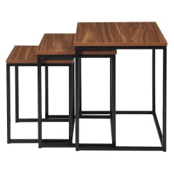 No Brand Genoa Nesting Table Set Of 3 Walnut